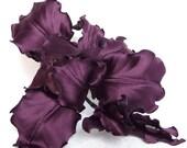 Steampunk  wedding purple brooch clip magic  fashion style silk flower