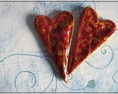 Gift for couple, wedding decor, wedding favors - Two hot hearts