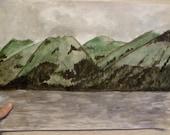 Large original watercolour Scottish Highlands landscape near Loch Ness 12x16