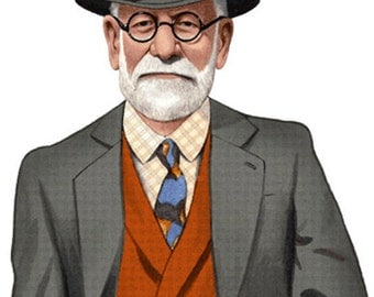 Life Size Sigmund Freud or other psychologist