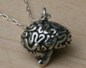 3-D Brain necklace