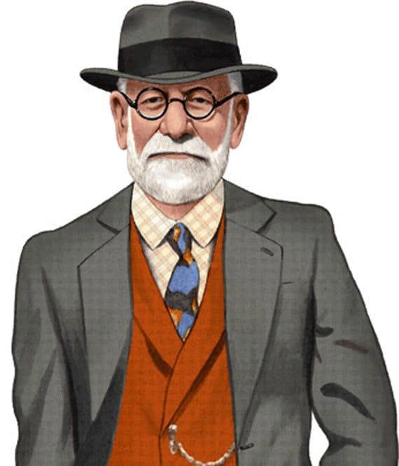 Life Size Sigmund Freud or other psychologist