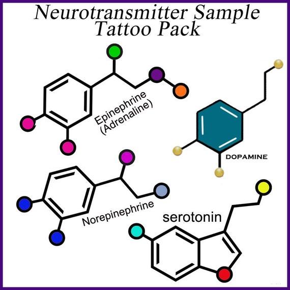Items similar to Neurotransmitter Temporary Tattoos on Etsy | 570 x 570 jpeg 43kB