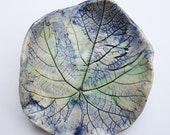 decorative porcelain grape leaf textured ring plate