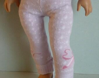 "American Girl Doll Clothes - DOLL LEGGINGS.  Handmade by The Trendy Doll for 18"" American Girl Doll and 18 Inch Doll."