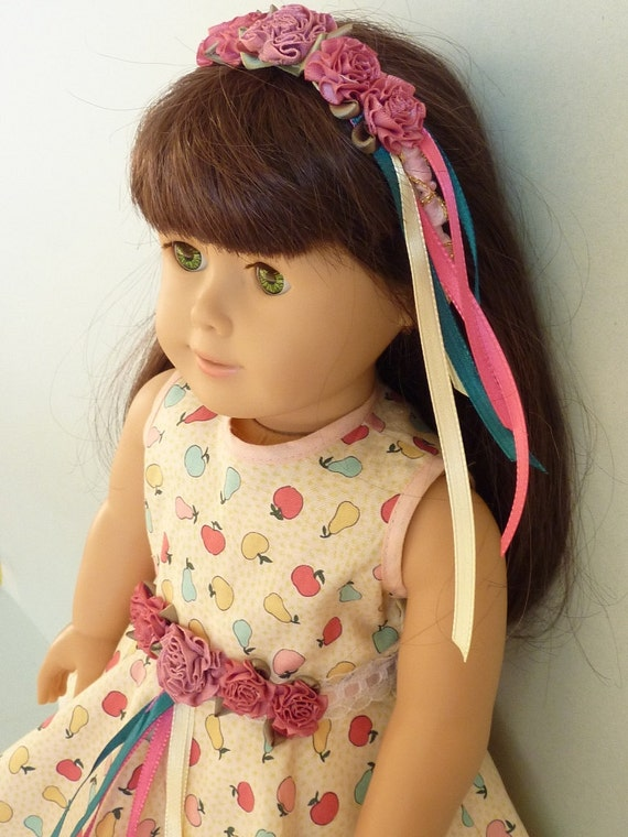 """American Girl Doll Clothes -  Sleeveless in Seattle:The Third - Apple Ensemble, 3-Piece Doll Outfit. Handmade for 18"""" American Girl Doll"""