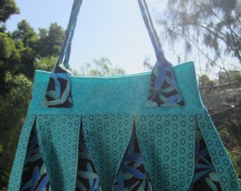Teal Dragonfly Purse