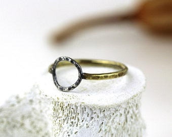 Mixed Metal Eclipse Ring