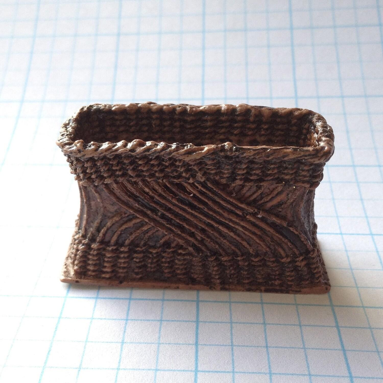 Dollhouse Miniature Wicker Basket By Pat By Pattylerminiatures