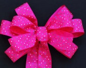 Handmade Hot Pink Fuschia Shower Birthday Wedding Pew Bow Party Gift Anniversary Large Bow