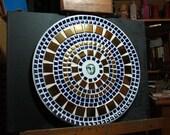 "12"" Mosaic Decorative Ceramic Tile Plate"