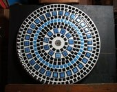 "12"" Mosaic Ceramic Tile Plate"