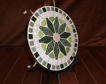 Mosaic ceramic tile trivet