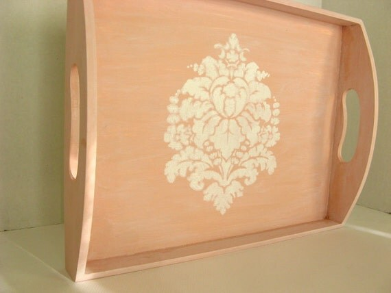 Pink Baroque Shabby Chic Wooden Serving Tray