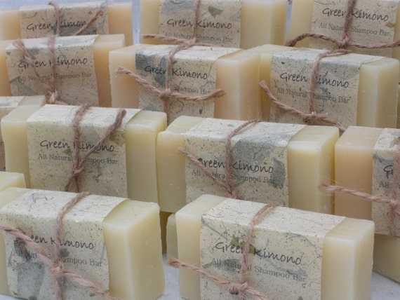 Free shipping with set of 3  All Natural Shampoo Bars...