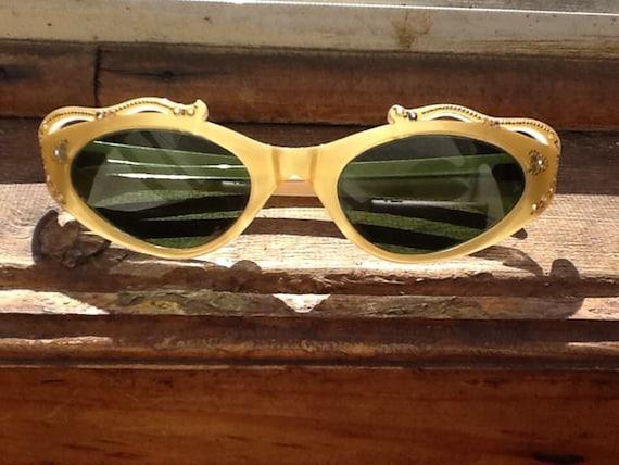 1940's Gold Sunglasses