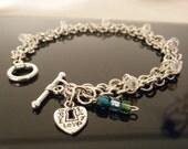 Mother Birthstone Charm Bracelet