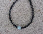 Clearance Priced. Blue Larimar Gemstone and Sandstone Bracelet - Item Number 41