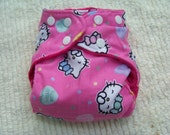 Hello Kitty Inspired Newborn Cloth Diaper