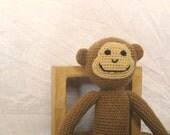 Crochet Stuffed Brown Curious Monkey