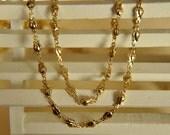 2 meter raw Brass  plating gold handmade tulip   chain
