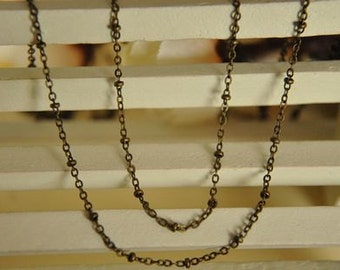4 meter raw Brass  plating antique bronze  chain