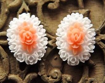 10pcs  resin flower  cab  Cabochons  pendant finding  RF031