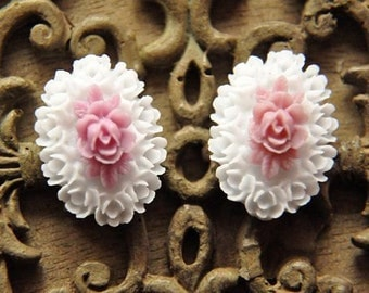 10pcs resin flower  Cabochons  pendant finding  RF031