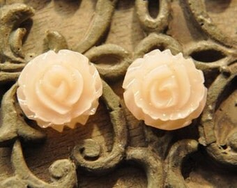 15pcs light pink   resin flower   Cabochons  pendant finding  RF035