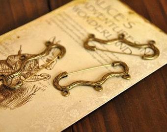 10pcs alloy   plating antique bronze  brooch pendant finding