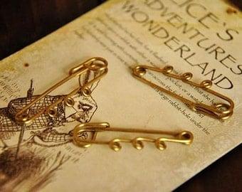 5pcs raw Brass    brooch pendant finding