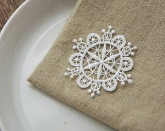 5  pcs snowflake lace  Leisibutie pendant finding