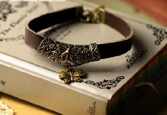 3pcs antique bronze plating  bracelet   pendant finding