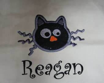 "Trick or treat applique bag ""cat"""