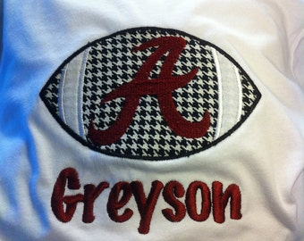 Alabama Crimson Tide Applique Shirt (girl or Boy)