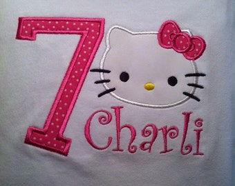 Applique Hello Kitty T-shirt