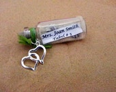 CUSTOM MADE Mini Message in a bottle Bottle Place Card / Favor bottles sold in lots of 12