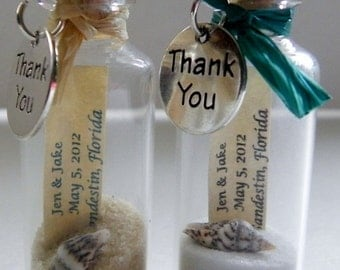 THANK YOU Mini Message Bottle FAVORS with or without magnets sold in lots of 12 or more