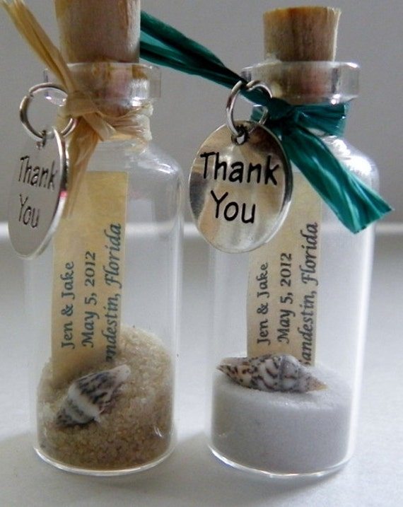 Wedding Thank You Gifts Unusual : THANK YOU Mini Message Bottle FAVORS with or without magnets sold in ...