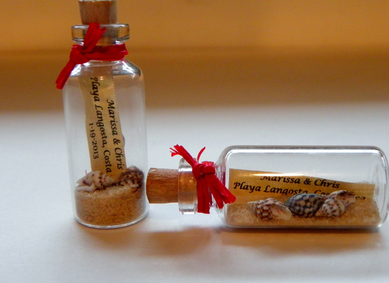 Mini Message Bottle Save the Date Magnets sold in lots of 12