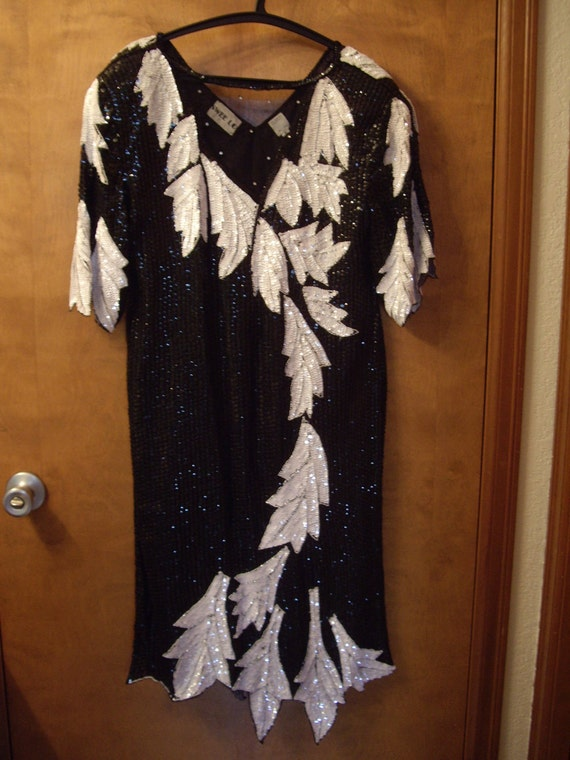 Beaded, sequin dress