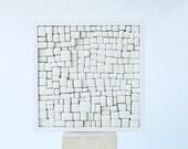 Mosaic x22. Twelve/01. White ceramic Mural. Porcelain