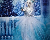 ICE LADY  porcelain ooak bjd EXAMPLE