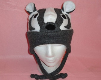 Fleece badger hat