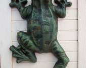 Cast Iron Climbing Frog