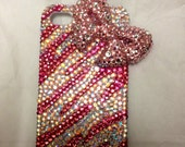 Swarovski Crystal Handmade Cell phone case 3d Bow
