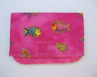 small handmade billfold or wallet giftcard holder coupon organizer