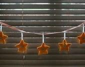 Festive felt star garland