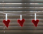 festive felt heart garland