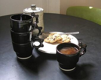 stackable cups café black steam punk design